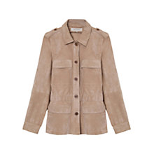 Buy Gerard Darel Abelia Suede Jacket, Tourterelle Online at johnlewis.com