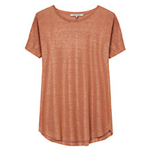 Buy Gerard Darel Linen Accroche-Coeur Top, Nutmeg Online at johnlewis.com
