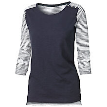 Buy Fat Face Shoulder Button Stripe Cotton Top, Navy Online at johnlewis.com
