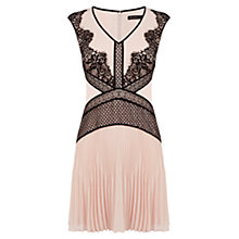 Buy Karen Millen Placed Lace Dress, Pale Pink Online at johnlewis.com