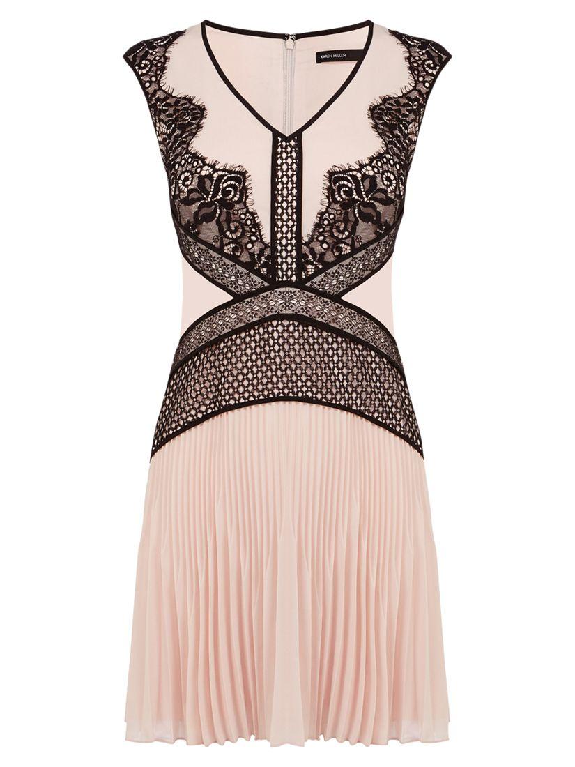karen millen placed lace dress pale pink, karen, millen, placed, lace, dress, pale, pink, karen millen, 10|14|16|6|12|8, women, womens dresses, 1923437