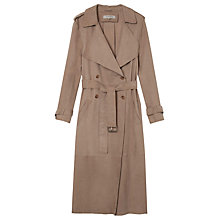 Buy Gerard Darel Abaca Trench Coat, Tourterelle Online at johnlewis.com