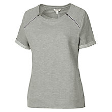 Buy Fat Face Witney Crew Neck Top, Grey Marl Online at johnlewis.com