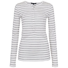 Buy French Connection Valley Stripe T-Shirt, White/Nocturnal Online at johnlewis.com