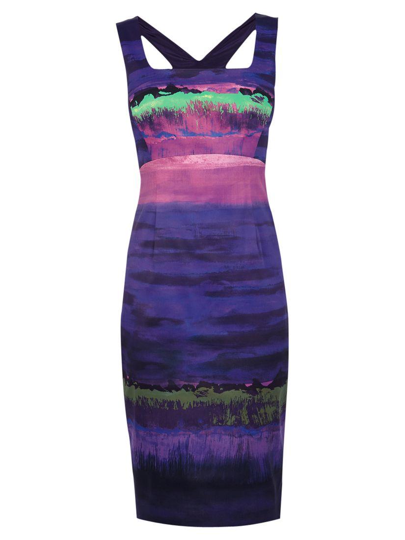 karen millen stripe print dress purple, karen, millen, stripe, print, dress, purple, karen millen, 6|8|14|12|10|16, women, womens dresses, 1917422