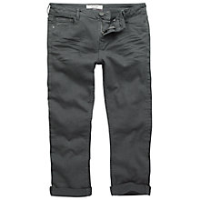 Buy Fat Face Dye Twill Cropped Jeans, Charcoal Online at johnlewis.com