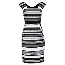Buy Karen Millen Tweed Pencil Dress, Black/White Online at johnlewis.com
