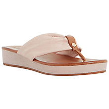 Buy Dune Laidback Leather Toe Thong Sandals Online at johnlewis.com