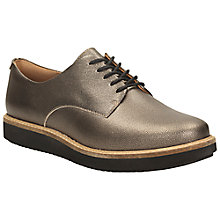 Buy Clarks Glick Derby Leather Lace Up Brogues Online at johnlewis.com