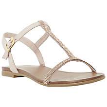 Buy Dune Lifestory Leather T-Bar Sandals Online at johnlewis.com