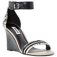 Buy Dune Karla Leather Wedge Heeled Sandals Online at johnlewis.com