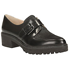 Buy Clarks Anniston Leather Faux Pony Hair Loafers, Black Online at johnlewis.com