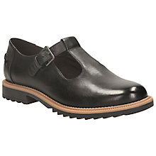Buy Clarks Griffin Monty Leather T-Bar Shoes, Black Online at johnlewis.com
