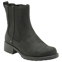 Buy Clarks Ornicoco Club Leather Ankle Boots, Black Online at johnlewis.com
