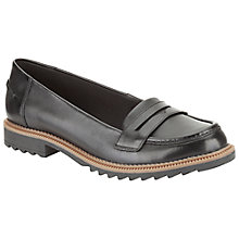 Buy Clarks Griffin Milly Loafers, Black Leather Online at johnlewis.com