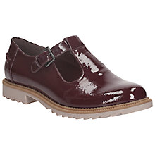 Buy Clarks Griffin Monty Patent Leather Shoes, Burgundy Online at johnlewis.com