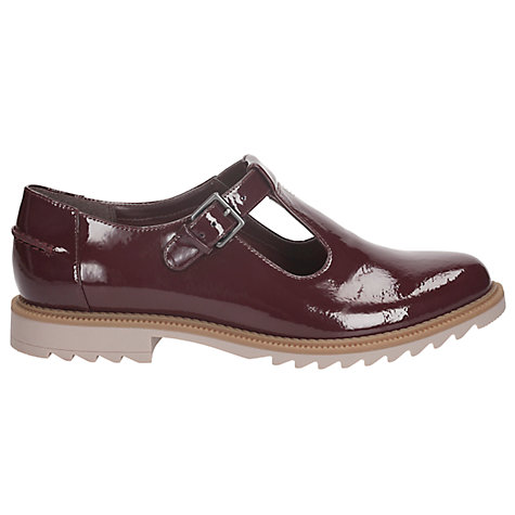 buy clarks griffin monty patent leather shoes burgundy