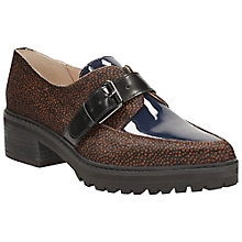Buy Clarks Anniston Fudge Leather Pointed Loafers, Cognac Online at johnlewis.com