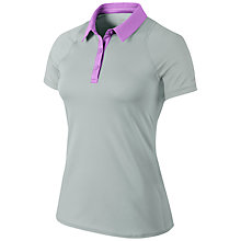 Buy Nike Sphere Short Sleeve Tennis Polo, Grey/Pink Online at johnlewis.com