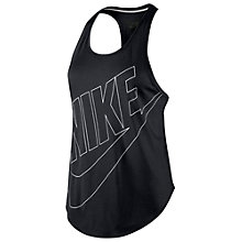 Buy Nike Signal Tank Top, Black/White Online at johnlewis.com