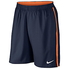 "Buy Nike Tennis Court 9"" Shorts, Navy/Orange Online at johnlewis.com"