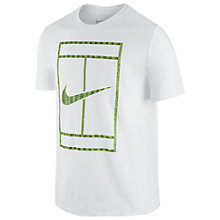 Buy Nike Wimbledon Court T-Shirt, White Online at johnlewis.com