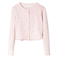 Buy Mango Kids Girls' Cotton Stars & Lace Cardigan Online at johnlewis.com