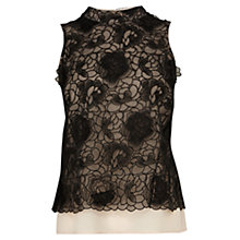 Buy Coast Louvre Top, Black Online at johnlewis.com