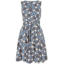 Buy Closet Tile Print Dress, Navy/White Online at johnlewis.com