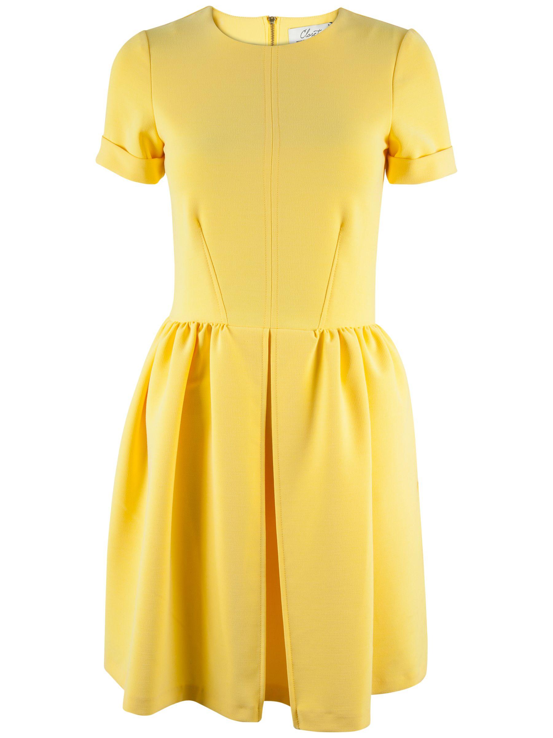 closet vent short sleeve dress yellow, closet, vent, short, sleeve, dress, yellow, 10|14|8|12, women, womens dresses, 1905976