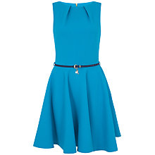 Buy Closet Belted Skater Dress, Turquoise Online at johnlewis.com