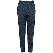 Buy Closet Floral Cigarette Trousers, Navy Online at johnlewis.com