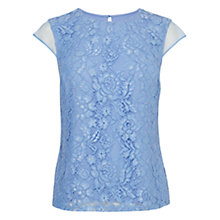 Buy Coast Eden Lace Top, Cornflower Online at johnlewis.com