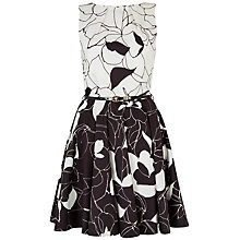 Buy Closet Floral Belted Skater Dress Online at johnlewis.com