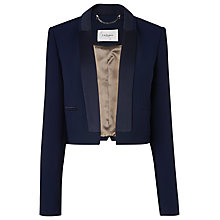 Buy L.K. Bennett Aleda Satin Crepe Jacket, Navy Online at johnlewis.com