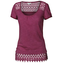 Buy Fat Face Kadi Lace Hem T-Shirt Online at johnlewis.com