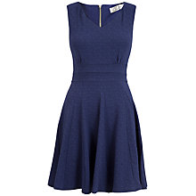 Buy Closet V-neck Godet Dress, Blue Online at johnlewis.com