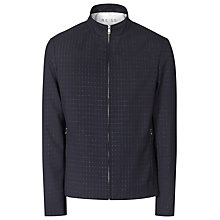 Buy Reiss Moonlight Textured Harrington Jacket, Navy Online at johnlewis.com