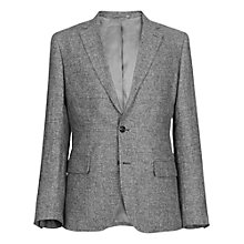 Buy Reiss Foster Melange Linen Blazer, Grey Online at johnlewis.com