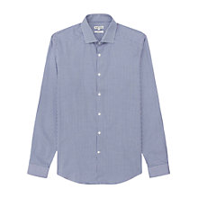 Buy Reiss Whiskey Houndstooth Shirt, Navy/White Online at johnlewis.com