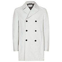Buy Reiss Millbrook Double Breasted Mac, Stone Online at johnlewis.com