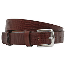 Buy Reiss Huie Leather Belt, Tobacco Online at johnlewis.com