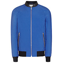 Buy Reiss Cannes Bomber Jacket, Bright Blue Online at johnlewis.com