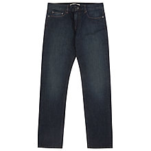 Buy Reiss Mobb Washed Straight Jeans, Blue Online at johnlewis.com