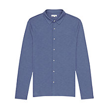 Buy Reiss Chance Contrast Button Shirt, Blue Online at johnlewis.com