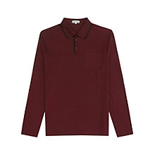 Buy Reiss Poacher Polo Shirt, Bordeaux Red Online at johnlewis.com