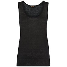 Buy Jaeger Linen Knit Vest Top, Black Online at johnlewis.com