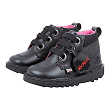 Buy Kickers Colfi Lace Up Boots, Black Online at johnlewis.com