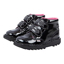 Buy Kickers Kick Arro Rip-Tape Boots, Black Online at johnlewis.com