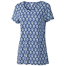 Buy Fat Face Swing Raticha T-Shirt, Dark Chambray Online at johnlewis.com